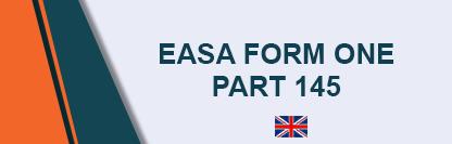 EASA Form 1 Part 145 - Maintenance