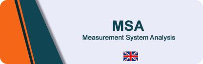 MSA - Measurement System Anlaysis